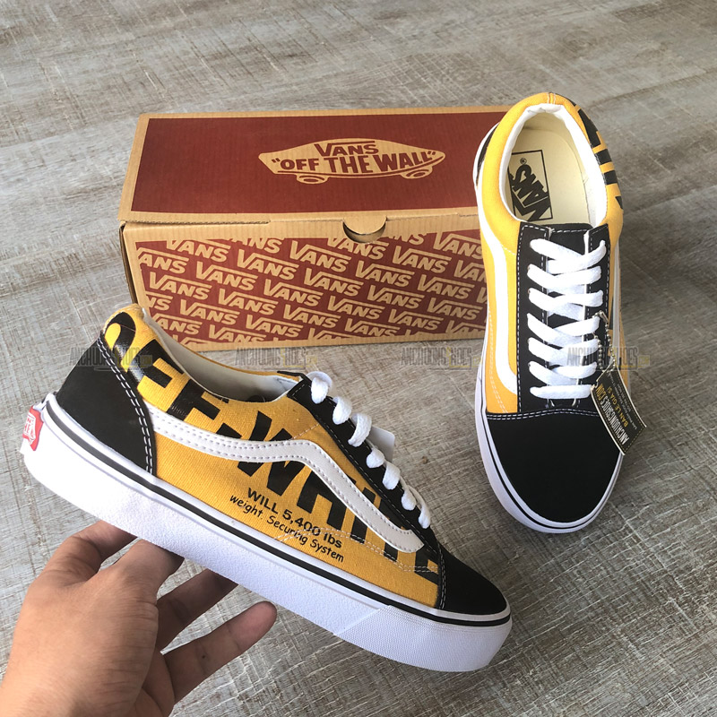 competitive price aea6a db045 Giày Vans Old Skool Off White Black
